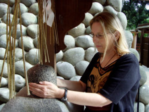 Kyoto- If I can lift the rock my wish comes true!